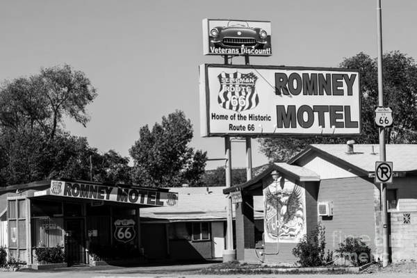 Photograph - The Romney Motel Route 66 by Anthony Sacco