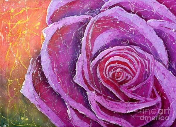 Mixed Media - The Rose by Carol Losinski Naylor