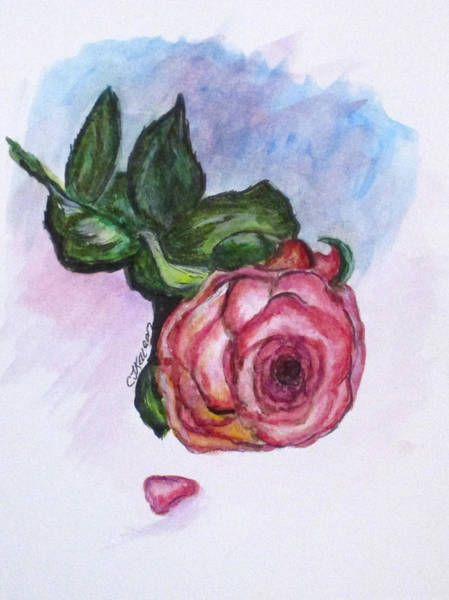 Painting - The Rose by Clyde J Kell
