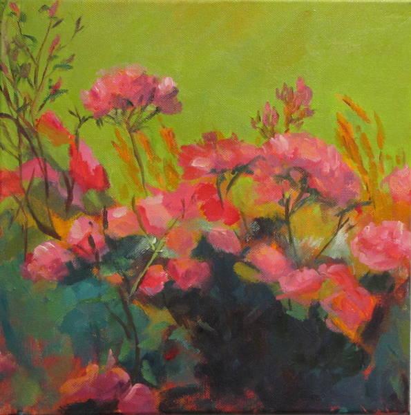 Wall Art - Painting - The Rose Garden by Sylvia Carlton
