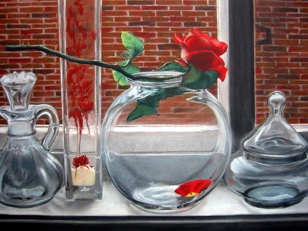 Wall Art - Painting - The Rose by Leyla Munteanu