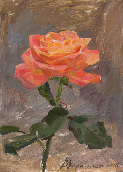 Wall Art - Painting - The Rose by Victoria Kharchenko