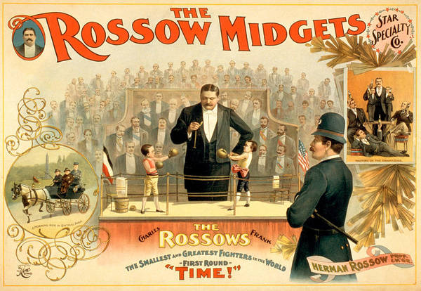 Boxing Mixed Media - The Rossow Midgets by Charlie Ross