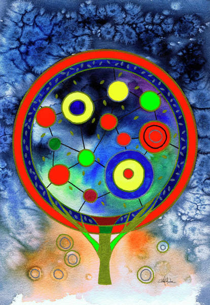 Phantasy Wall Art - Painting - The Round Tree by Isabel Salvador