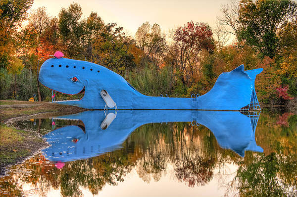 Time Frame Photograph - The Route 66 Blue Whale - Catoosa Oklahoma by Gregory Ballos