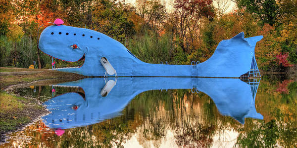 Photograph - The Route 66 Blue Whale Panorama- Catoosa Oklahoma by Gregory Ballos