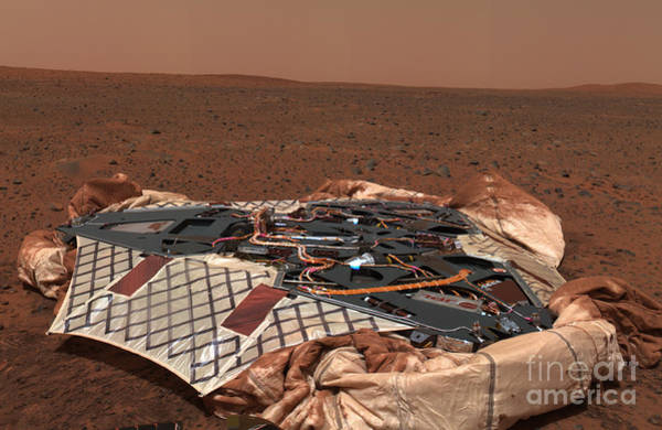 Photograph - The Rovers Landing Site, The Columbia by Stocktrek Images