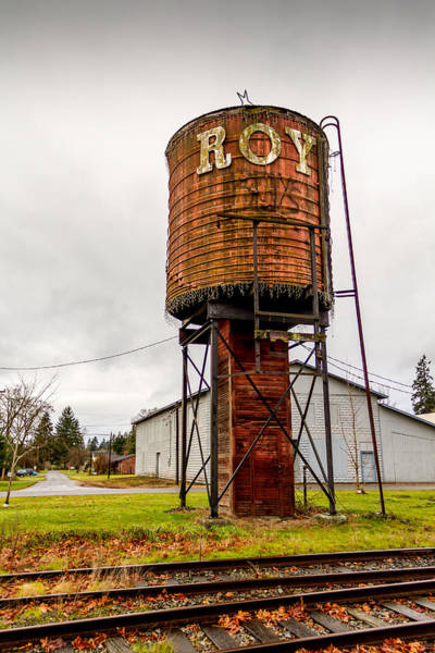 Photograph - The Roy Water Tower by Rob Green