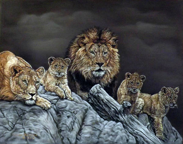 Pastel - The Royal Family by Linda Becker