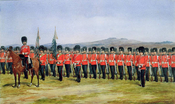 Regiment Wall Art - Painting - The Royal Fusiliers by Richard Simkin