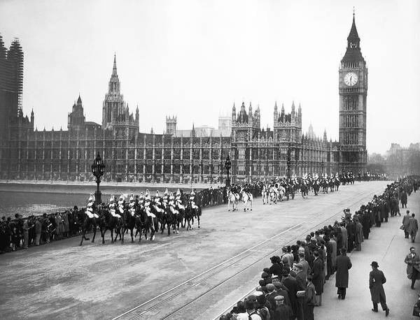 The Clock Tower Photograph - The Royal Procession by Underwood Archives