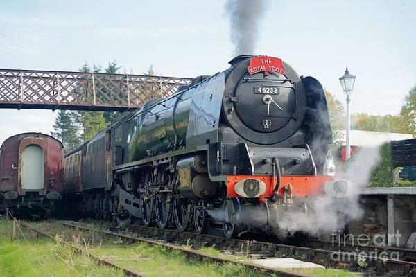 Photograph - The Royal Scot At Butterley by David Birchall