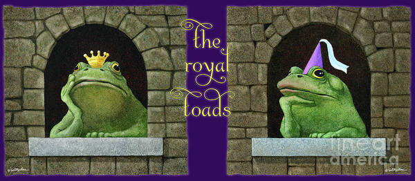 Painting - The Royal Toads... by Will Bullas
