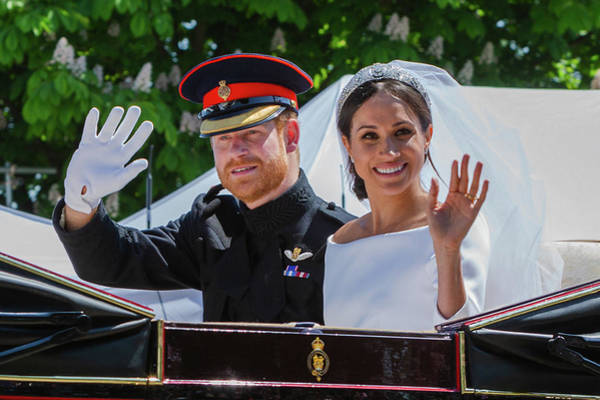 Photograph - The Royal Wedding Of Prince Harry  To Meghan  by Andy Myatt