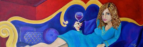 Wall Art - Painting - The Ruby Lounge by Debi Starr