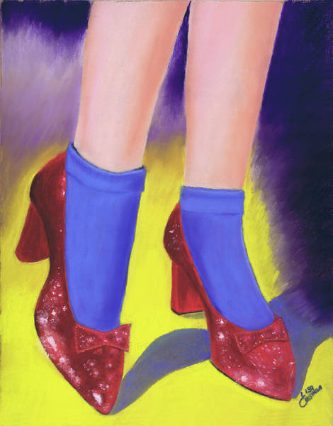 Painting - The Ruby Slippers by Lisa Crisman