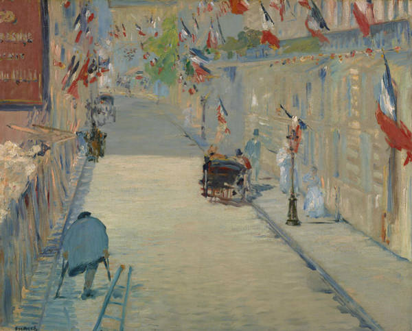 Painting - The Rue Mosnier With Flags by Edouard Manet