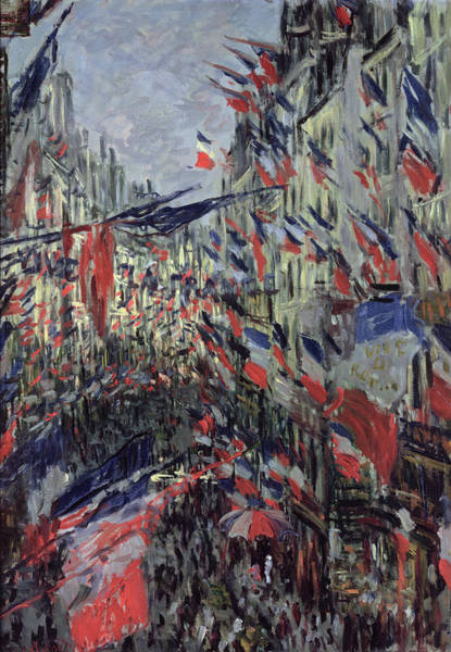 Fete Wall Art - Painting - The Rue Saint Denis by Claude Monet