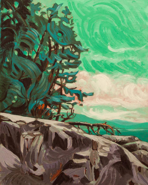 Painting - The Rugged Coast by Rob Owen
