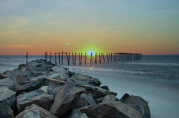 Photograph - The Ruined Pier - 57th Street - Ocean City New Jersey by Bill Cannon