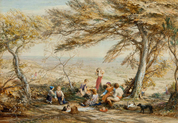 Painting - The Rustic Dinner by Samuel Palmer
