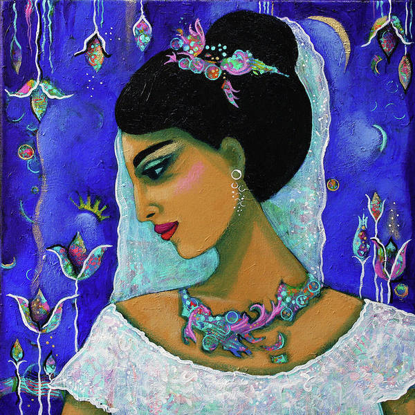 Painting - The Sabbath Bride, The Sabbath Queen II by Carla Golembe