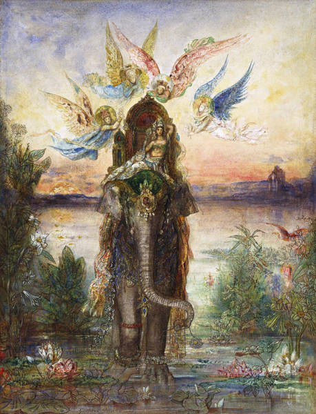 Painting - The Sacred Elephant  by Gustave Moreau