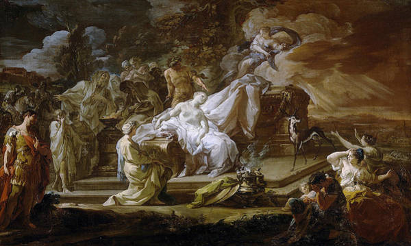 Painting - The Sacrifice Of Iphigenia by Corrado Giaquinto
