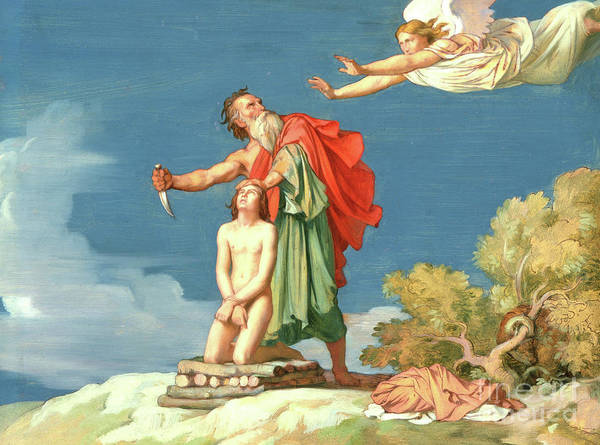 Wall Art - Painting - The Sacrifice Of Isaac by Hippolyte Flandrin