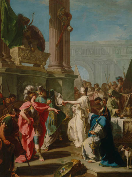 Painting - The Sacrifice Of Polyxena by Giovanni Pittoni