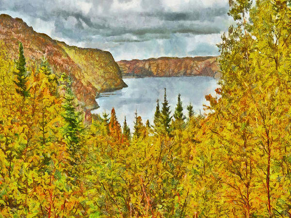 Digital Art - The Saguenay Fjord National Park In Quebec 1 by Digital Photographic Arts