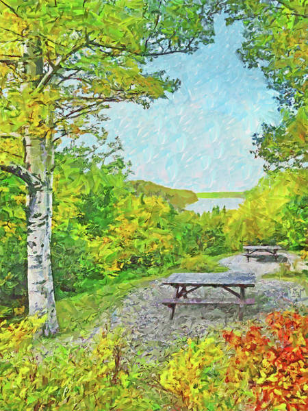 Digital Art - The Saguenay Fjord National Park In Quebec 3 by Digital Photographic Arts