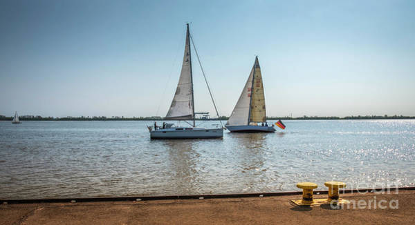 Photograph - The Sailboats On The River by Marina Usmanskaya