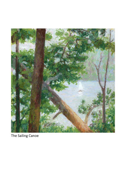 Pastel - The Sailing Canoe by Betsy Derrick