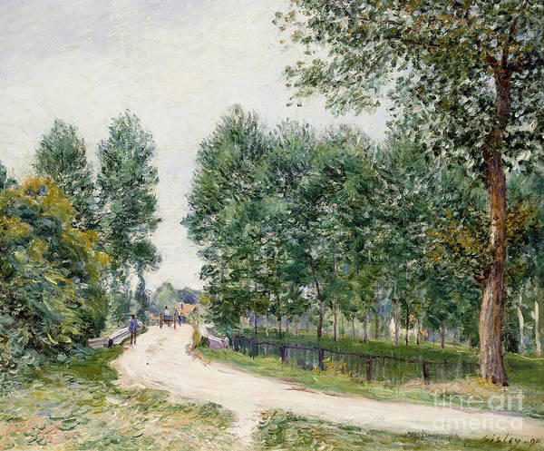 Turn Of The Century Painting - The Saint Mammes Path, Morning by Alfred Sisley