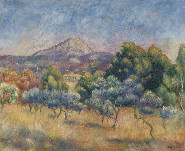 Painting - The Sainte-victoire Mountain by Auguste Renoir