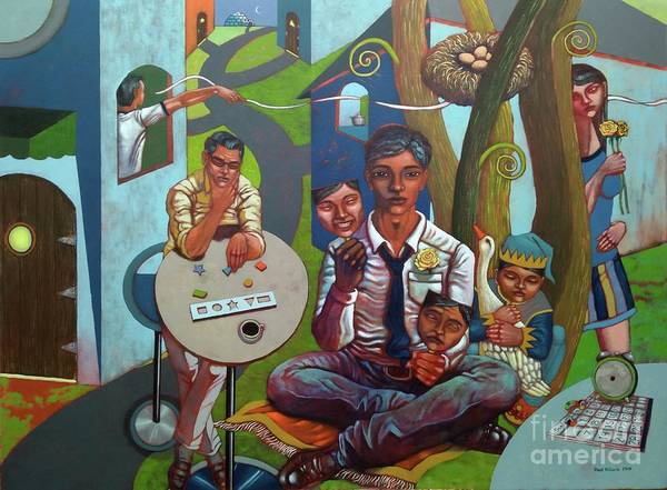 Wall Art - Painting - The Salesman by Paul Hilario