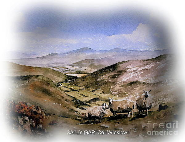 Painting - The Sally Gap Co. Wicklow by Val Byrne