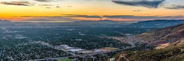 Photograph - The Salt Lake Valley At Sunset by James Udall