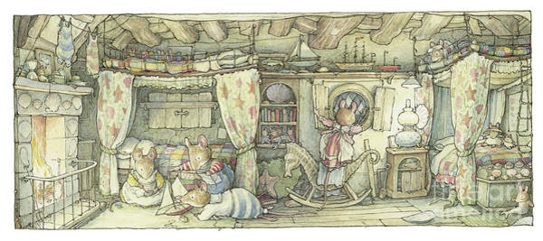 Wall Art - Drawing - The Saltapples Bedroom by Brambly Hedge