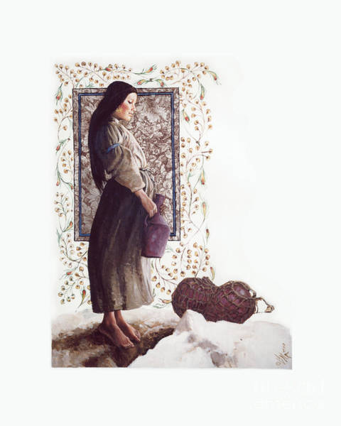Painting - The Samaritan Woman - Lgtsw by Louis Glanzman