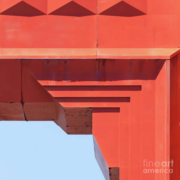 The San Francisco Golden Gate Bridge 5d2990sq Art Print