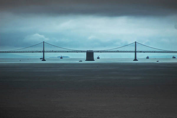 Photograph - The San Francisco - Oakland Bay Bridge by Wes Jimerson