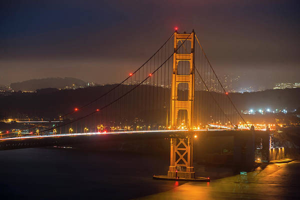 Photograph - The San Francisco Skyline Through The Golden Gate Bridge 2 by Toby McGuire
