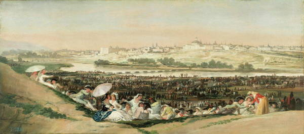 Fashion Plate Painting - The San Isidro Meadow by Francisco de Goya