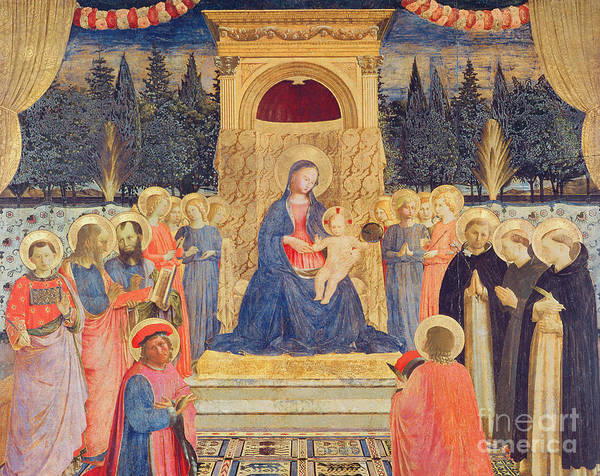 Wall Art - Painting - The San Marco Altarpiece by Fra Angelico