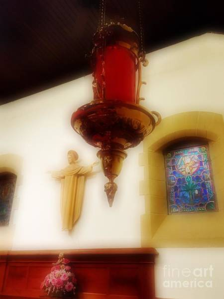 Photograph - The Sanctuary Lamp by Jenny Revitz Soper