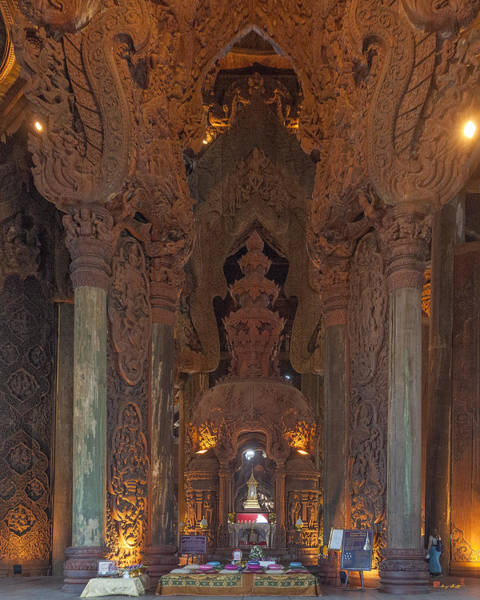 Photograph - The Sanctuary Of Truth Interior Dthcb0278 by Gerry Gantt
