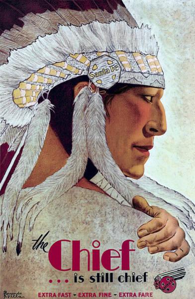 Topeka Wall Art - Photograph - The Santa Fe Chief Vintage Travel C. 1929 by Daniel Hagerman
