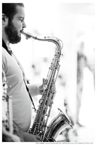 Photograph - The Saxophonist by Keith Morris